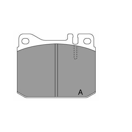 GBS 11.114 MERCEDES BENZ W 123.200 BRAKE PAD
