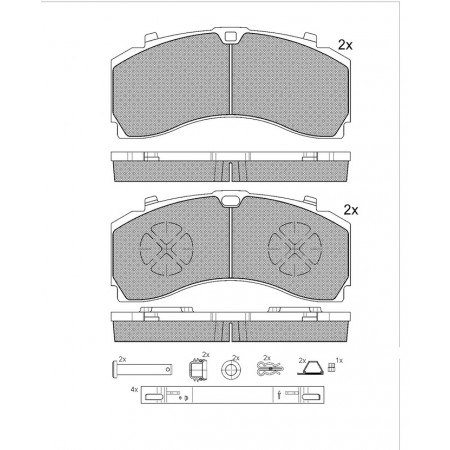 GBS 11 169 MERCEDES ACTROS BRAKE PAD - Gbs Parts